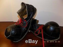 Vtg LEATHER CLOWN SHOES Circus One of a Kind! HOBOBum Professionally Made