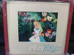 WALT DISNEY WDCC ALICE IN WONDERLAND 1950s SIGNED ONE OF A KIND PIECE, EXCOND