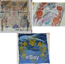 WW2 Military Pillow Silks, Custom-made into large QUILT Coverlet One of a KIND