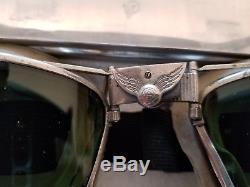 WW-2 B-6 AVIATOR GOGGLES USAAF PROTOTYPE! Early WW2, One of a kind
