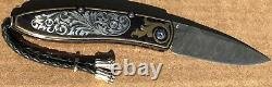 William Henry Knife B05 One Of A Kind 18K Gold Hand Engraved Silver Retail $6000