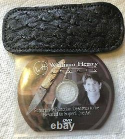 William Henry Knife B10 One Of Kind Heat Blue Damascus Scales Fossil Brain Coral