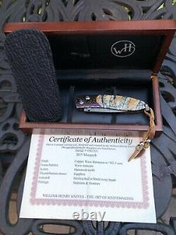 William Henry Knife Collectors Series One Of A Kind September 2007 Mammoth