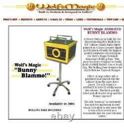 Wolf's Magic RARE Piece One of a kind Wolf's Magic Bunny Blammo Box-Signed