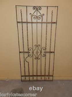 Wonderful 100+ Year Old French Wrought Iron Gate One Of A Kind