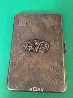 World War II ONE of A KIND Collection Sterling Silver Cigarette Case Ring ID Tag