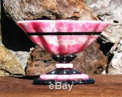 Wow! Gem, One Of A Kind, Very Special, SCALLOPED RHODOCHROSITE BOWLSigned