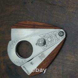 Xikar cutter hand engraved Xi3 Nimschke scrolls Macassar Ebony one of a kind