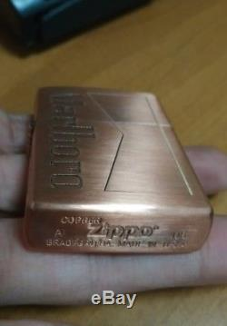 Zippo copper Marlboro Engraved 5 side. New, One of a kind