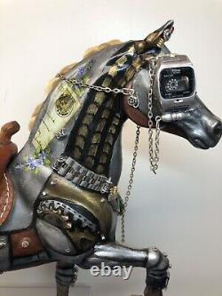 11.5 Ooak L'un D'une Sorte De Cheval À La Vapeur Mystique Par Rita Allen Collect-art #u
