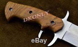 16 Couteau Bowie En Acier Fait Main Fait Main Personnalisé D2 En Bois D'olivier Avec Poignée Dkonly