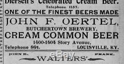 1910 Pré-oertel Interdiction Bière Publicité Litho Stone (one Of A Kind)