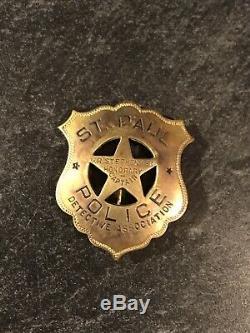 1920 St Paul Police Badge Détective Association D'un Obsolète Of A Kind