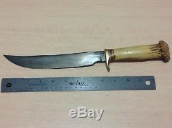 1940 Randall 8-1 / 4 Épinglé Couronne Stag Couteau Terrain. L'un D'une Sorte Randall