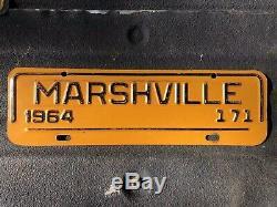 1964 Marshville North Caroline Ville Tag Plaque D'immatriculation Monnaie Un Rare D'une Sorte