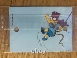 1994 Simpsons Series II B1-b6 Jeu De Cartes Promotionnelles Scellées! L'un D'un Genre! Rare! Dipkine