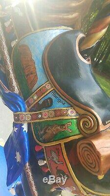2004 Cheval De Carrousel Par Sandra Mccoy Johnson One Of A Kind