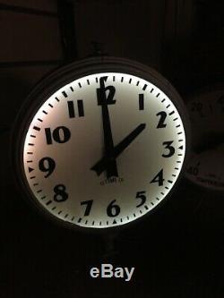 40 Thermomètre D'horloge Rotative Au Néon Provenant Du Signe De La Banque Du Centre-ville. Années 1950 Unique