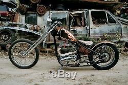 650 Bsa Un 1968 D'une Sorte Hardtail Custom Chopper Springer