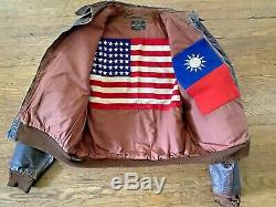A-2 Veste Sang Chit Cbi 10 Af 436e Bombe Squadron Patch One Of A Kind Jacket