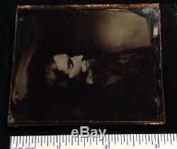 Abe Lincoln Debut 1865 Après Mortem 1 / 6ème Ambrotype Rare Une Image Individuelle