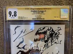 Absolute Carnage 1 Cgc 9.8 Ss Nycc Tcm Secret Virgin Couvre Un D'un Croquis Genre