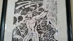 Affiche De Surfeur Argentée Signée Jack Kirby! Unique En Son Genre