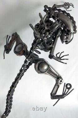 Alien 16 Sculpture Murale En Acier Soudé Art Fait Main Unique H. R. Giger