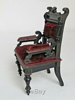 Antique Hand Made Bras Miniature Victorien Président One Of A Kind