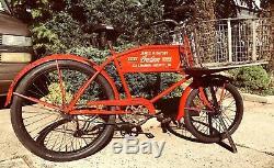 Antique Indien Concessionnaire Livraison Vélo Original One-of-a-kind Indien Museumpiece