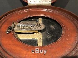 Antique Vintage Symphonion Music Box Avec 9 Disques Extrêmement Rare One Of A Kind
