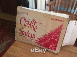 Arbre De Clinquant De Noël Vintage 'starlite Revlis 7' Argent Et Or! Un De Genre