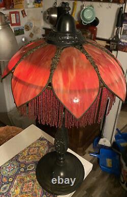 Art Nouveau Lampe À Drapeau Antique Originale Un D'un Genre Vintage Art Déco