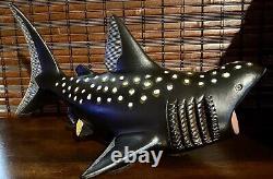 Artesania Rinconada Ultra Rare X-large Whale-shark Prototype Un D'un Genre Ar