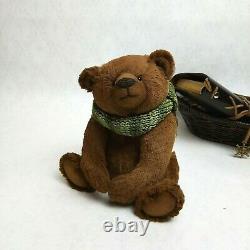 Artiste Ooak Artisanal Teddy Bear Bob Jouet Intérieur Unique En Son Genre Cadeau De Collection