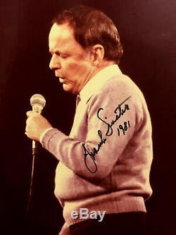 Authentique Frank Sinatra Photo Grand Format 11x14 Autographiée Et Unique