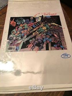 Avengers Marvel Comics Acétate Couleur Séparation Art One Of A Kind