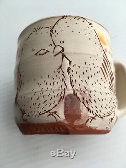 Ayumi Horie Tasse Céramique Coupe Main Levée / L'un D'un Amour Des Oiseaux Genre Argile