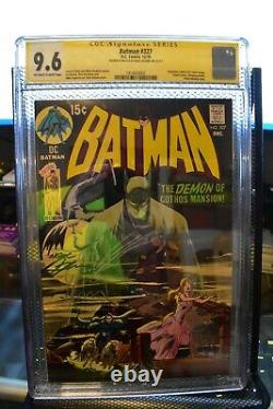 Batman #227 Cgc 9.6 Signé Et Esquivé Par Neal Adams DC 1970 Rare One Of A Kind