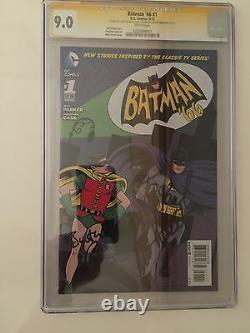Batman'66 #1 Rare! One Of A Kind -signé Par Adam West, Burt Ward - Les Deux Allreds