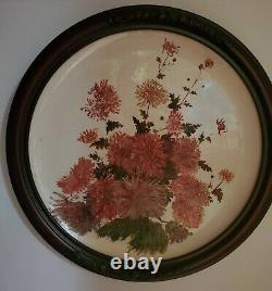Belleek Art / Earthenware Platter First Black Mark. Peint À La Main. C'est Une Sorte De Gentillesse.