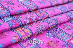 Bhoutanais Tissé À La Main, Un Genre En Soie Tissu Broderie Artistique Antique