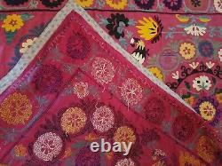 Broderie Textile Vintage Mur Suspendu, Couverture De Couverture De Jet, L'un D'un Genre