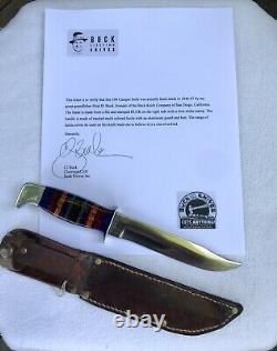 Buck 104 Couteau De Campeur Lucite 40s Un D'une Sorte Hoyt Buck Wow Saint Graal