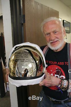 Buzz Aldrin Une Réplique Du Casque Apollo 11 Signé! Astronaute Gemini 12
