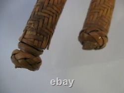 Cadre D'image D'art Folklorique Antique, Tissé À La Main Un-de-a-kind Tramp Art Primitif