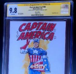 Captain America 700 Cgc Ss 9.8 Un Croquis! 2018 Avengers Endgame