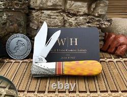 Cas XX USA Wild Horse Custom Salmon Coral Un Des Types Aaa+ Barlow Couteau #1/1