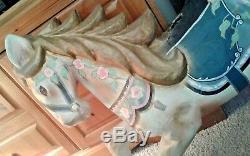 Cheval De Carrousel 29 Avec Support, Peint À La Main De Style Renaissance