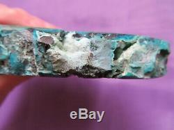 Chrysocolla Et Malachite Superbes (373,3 Grammes / 100 Mm) Une Tranche De Type (2)